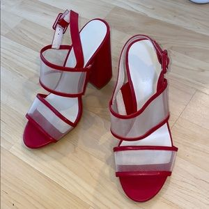Red heel Raye the label sandals